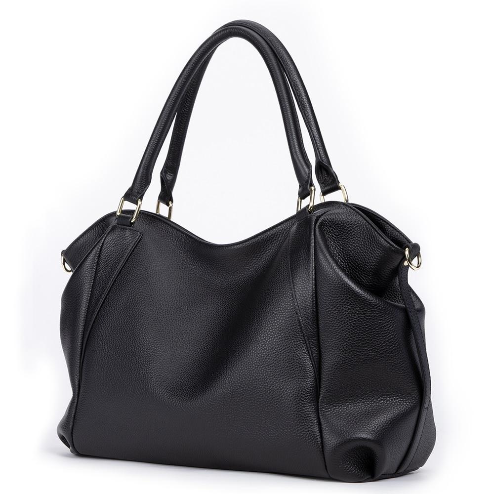 Image 3 - GIONAR Genuine Leather Bag Women Famous Brand Luxury Handbags  Designer 2019 Crossbody Shoulder Work Bag Over the ShoulderTop-Handle  Bags