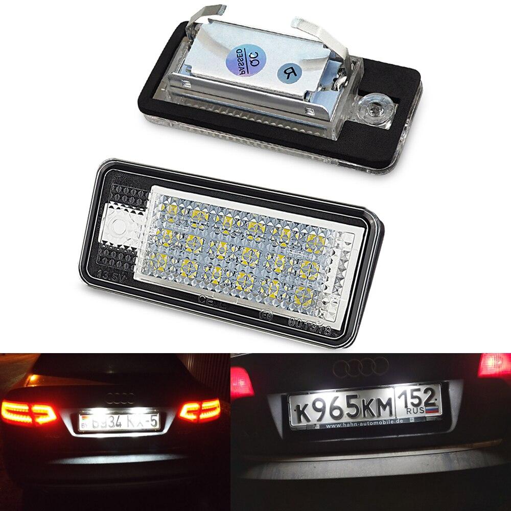 OXILAM 2x Auto Numero di Licenza LED Targa Della Lampada Della Luce 12V LED A Luce Bianca per Audi A3 S3 8P a4 B6 B7 A5 A6 4F Q7 A8 S8 C6 Cabriolet