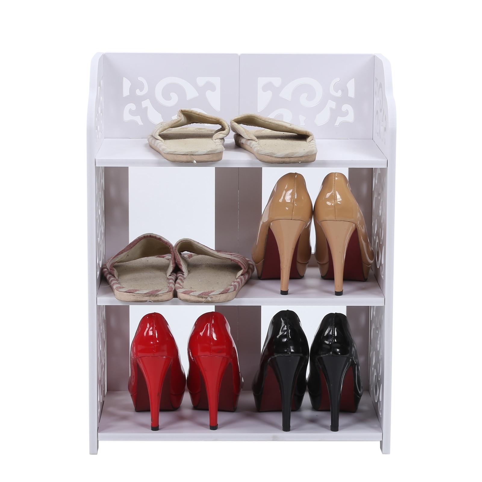 3 Tier Hollow Out Shoe Storage Rack Stand Shoe Storage Organiser Shelf for living room bedroom bathroom office