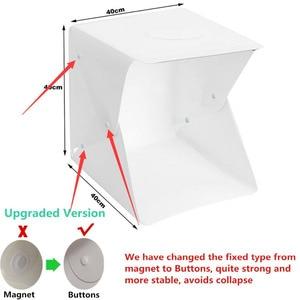 Image 3 - Lampa Led 40x40x40cm fotografia Studio fotografia tło wbudowane światło budka foto małe przedmioty fotografia kaseton Led