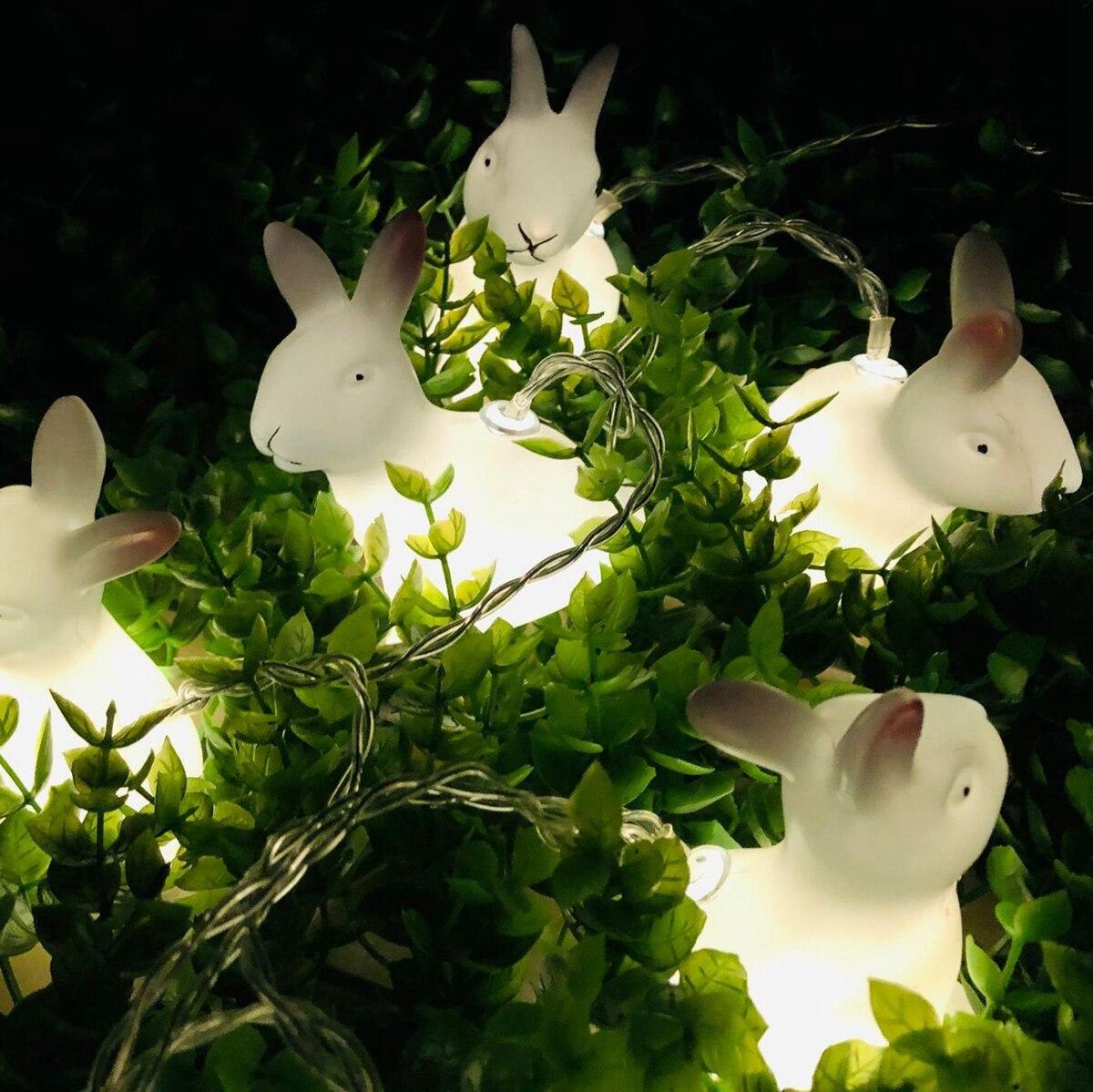 1,5 м 10 светодиодный пасхальное праздничное украшение Сделай Сам Пасхальный кролик полоска светильник кролик светодиодный гирлянда Сказочн...