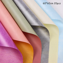 20pcs Two-color Waterproof Flowers Wrapping Paper Bouquet Floral Material Korean Version of The New Matte