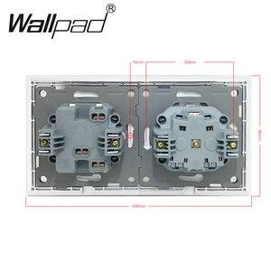 Image 5 - Toma de corriente de pared Enchufe europeo estándar con garras, Panel de cristal blanco, interruptor de 1 banda y 2 vías, toma de corriente de pared con Haken