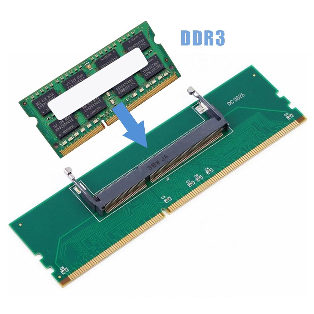 Professional DDR3 Notebook Memory to Desktop Memory Connector Adapter Card 200 Pin SO-DIMM to Desktop 240 Pin DIMM DDR3 Adapter 2