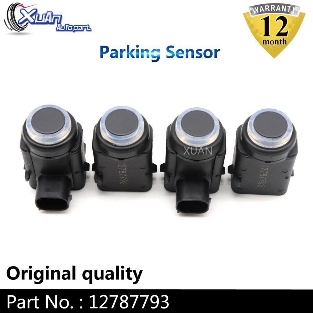 XUAN 4 sztuk czujnik parkowania pdc 12787793 dla Vauxhall Opel Zafira B Vectra C rejestracja Insignia Saab 9-3 Chrysler 300 CADILLAC STS SRX