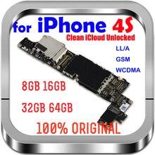 8 ГБ/16 ГБ/32 ГБ для iphone 4S материнская плата с системой IOS Оригинальный разблокированный для iPhone 4 S материнская плата полным набором чипов