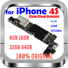 8GB /16GB /32GB for iphone 4S Motherboard with IOS System Original Unlocked for iPhone 4 S Mainboard Full Chips