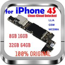 8GB /16GB /32GB iphone 4 S anakart IOS sistemi ile orijinal Unlocked iPhone 4 S anakart tam cips
