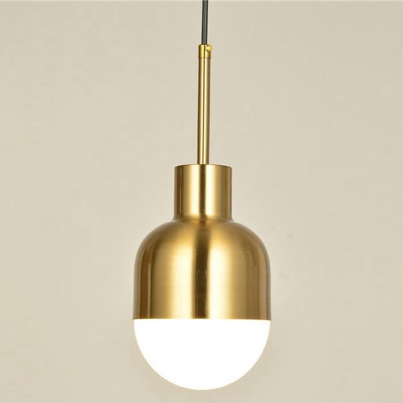 LukLoy Copper Lamp Nordic Pendant Light Hanging Lamp Pendant Lights Kitchen Lighting Hanging Loft Bar Modern Metal Suspension