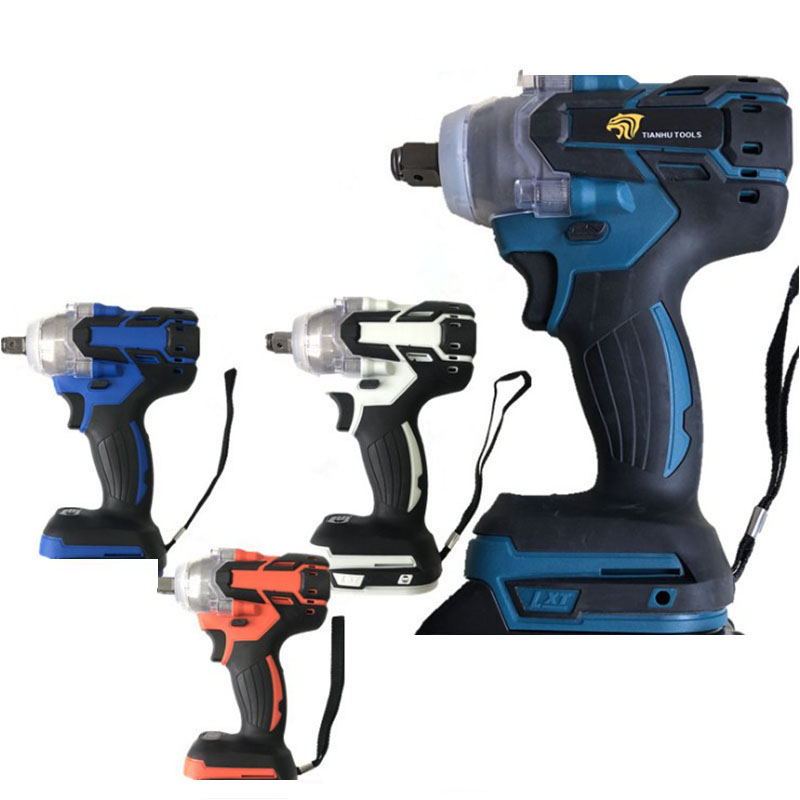 18V 520Nm Electric Brushless Impact Wrench Rechargeable 1/2 Socket Wrench Power Tool Cordless Without Battery Accessories