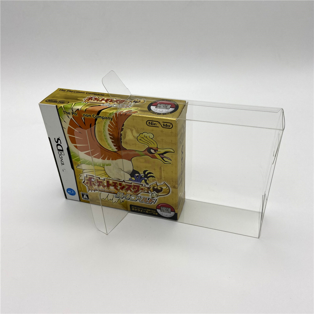 Display Collection Protection Box For US Japan Edition Nintendo Dual Screen NDS Pokémon Heart Gold Silver Soul Limited Edition