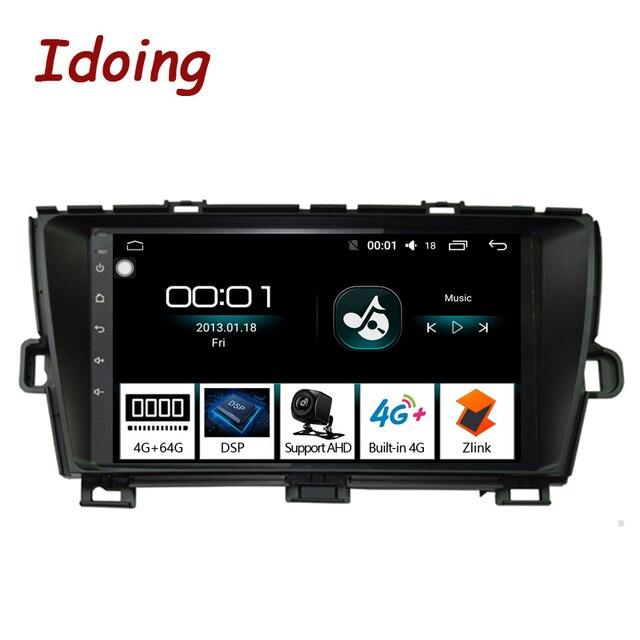 "Idoing 9 ""4G + 64G Octa çekirdek 1Din araba radyo Android multimedya oynatıcı Fit Toyota Prius GPS navigasyon Autoradio 2.5D IPS ekran"