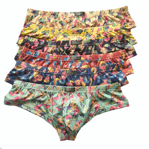 Image 1 - 6Pack Men Small Boxer Milk Silk Ginkgo Leaf Print Boxer Shorts Bulge Pouch Underpants Gay Panties Mens Underwear Boxers