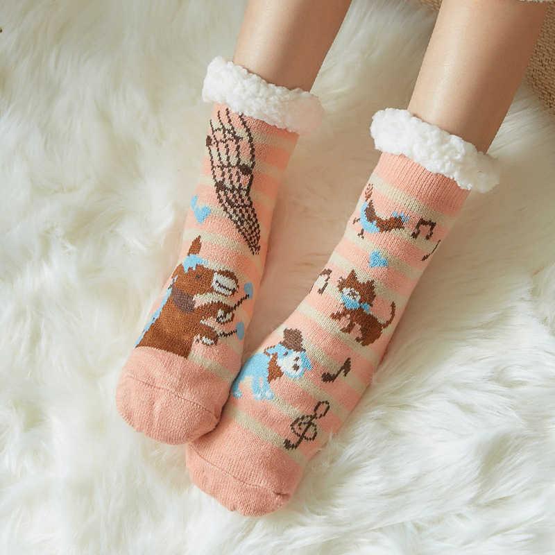 החורף לעבות גרבי נקבה מצחיק קריקטורה גרביים חמוד חתול סדרת חדש שנה גרבי הטוב ביותר חג המולד מתנות חם החלקה רך Socks2019