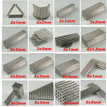 100 pcs piccolo disco magnetico rotondo grado N35 per ricerca o industria 2x1 3x1 3x2 5x1 5x2 5x3 2x2mm