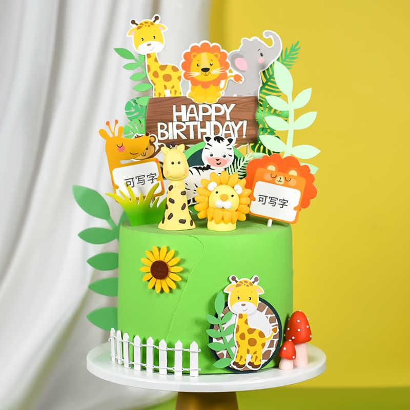 Cakelove สัตว์ป่า Series PANDA สิงโตเค้ก Topper Cupcake PARTY สำหรับเบเกอรี่วันเกิดตกแต่งเค้กตกแต่งเครื่องมือเบเกอรี่