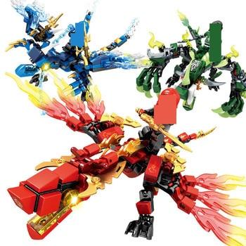 Ninjagos dragón juegos de bloques de construcción de modelo bola creador figuras...