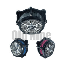 Motorcycle Venturi CNC Air Cleaner Intake Filter Kit For Harley Touring Street Glide Road Glide Softail Sportster Dyna RSD filter motorcycle turbine intake air cleaner cnc kit for harley sportster xl 883 xl 1200 dyna softail touring electra glide