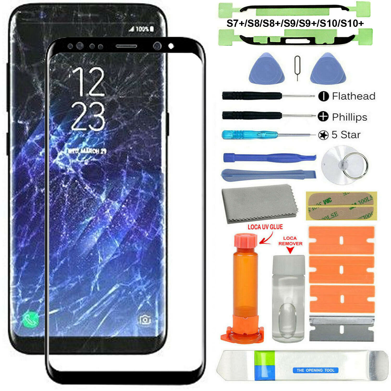 Front Screen Lens Back Glass Replacement Mobile Phone Repair Kit For Samsung Galaxy S7+/S8/S8+/S9/S9+/S10/S10+