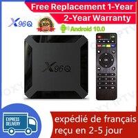 Miglior X96Q TV Box Android 10.0 Iptv Box X96Q 1G 8G 2G 16G Allwinner H313 smart ip tv set top box nave dalla francia