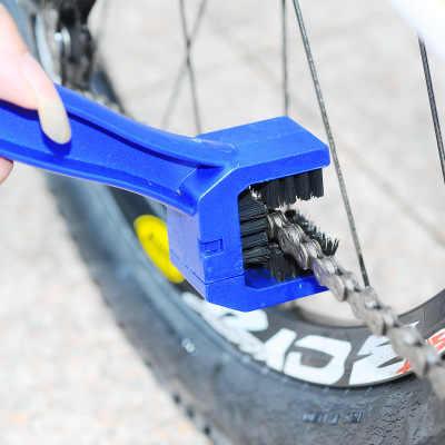 Moto Rcycle di Pulizia Bike Catena Cleaner di Plastica Moto Spazzola Catena Moto Rcycle Catena Cleaner Outdoor Scrubber Strumento per Strada Mtb