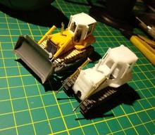 DasMikro Das87 DS87E07 HO escala 1/87 734 Bulldozer DIY Kit con dos motores