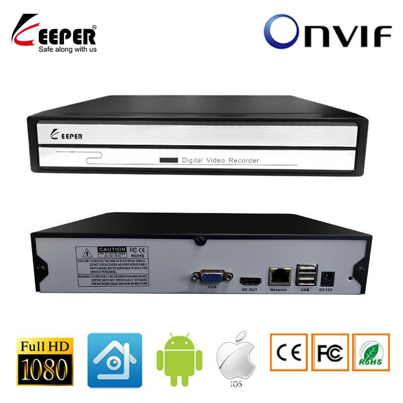 KeeperMini 4CH 8CH NVR Multi-idioma 1080P Gravador de Vídeo em Rede NVR Para A Câmera IP CCTV Suporte Onvif Protocal
