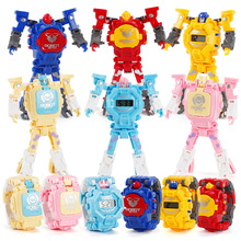 Cartoon Transformation Wristwatch Toy Creative Electronic Robot Watch For Boy Ch