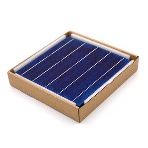 Image 5 - Panneau solaire en silicium polycristallin 10/50/80/100 pièces 156*156mm cellule solaire 6x6 Grade A PV bricolage photovoltaïque Sunpower C60 4.79W 0.5V