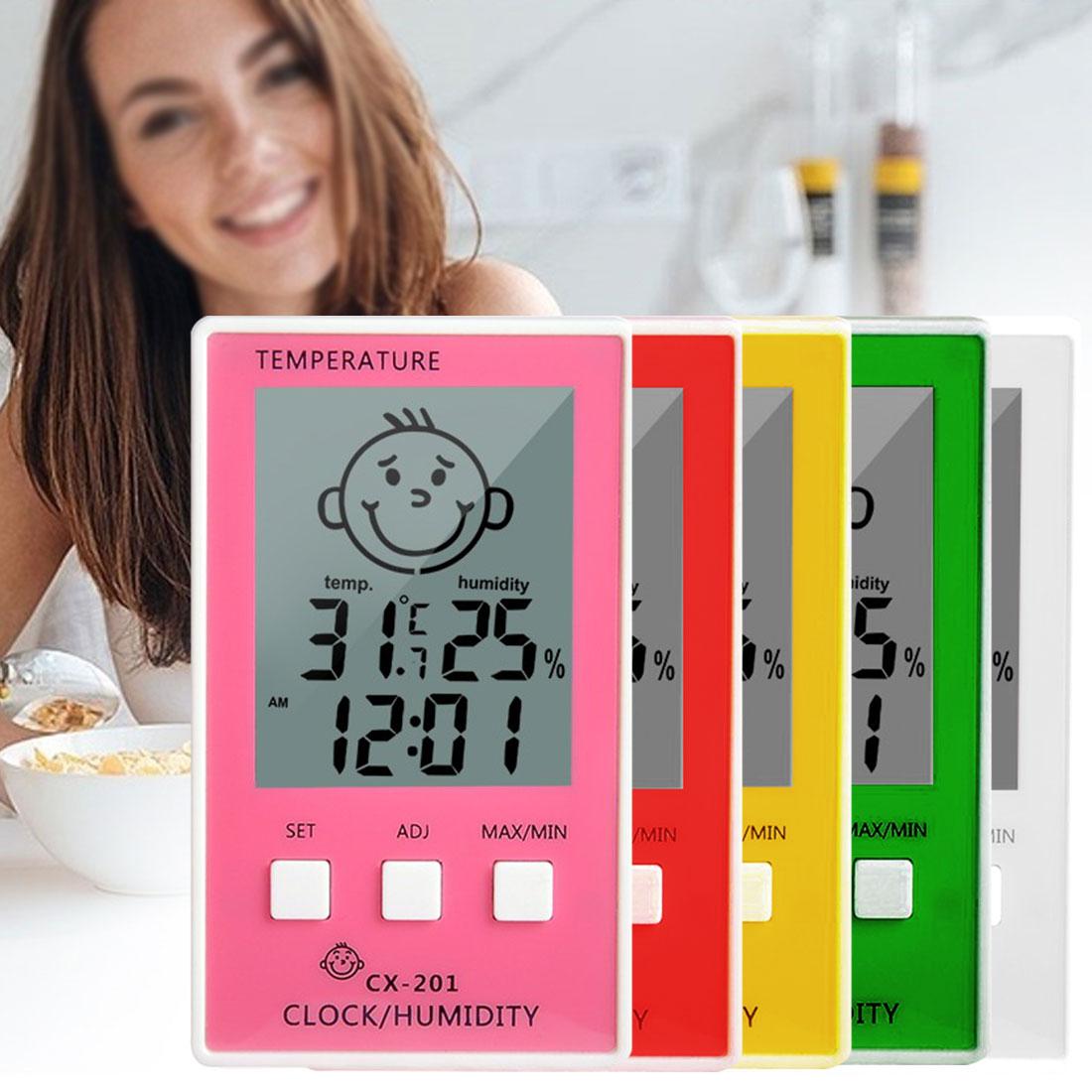 Цифровой термометр-гигрометр 3 в 1, устройство для измерения температуры и влажности, для ванной и детской комнаты