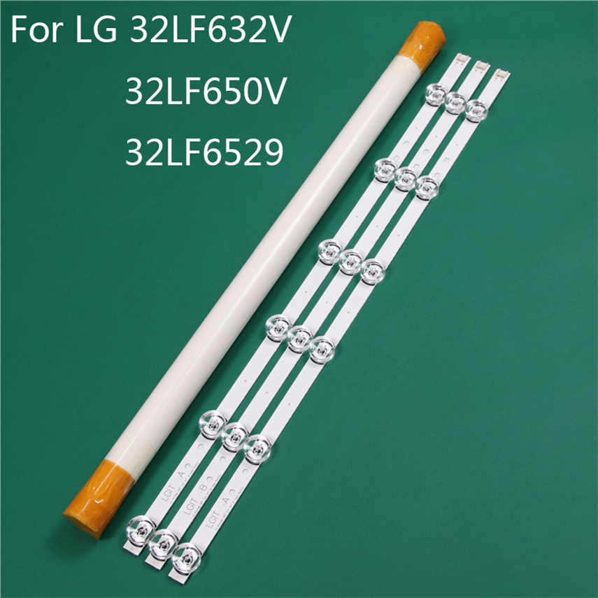 LED TV Illumination Part Replacement For LG 32LF632V ZC 32LF650V ZB 32LF6529 ZA LED Bar Backlight Strip Line Ruler DRT3.0 32 A BLight Beads   -