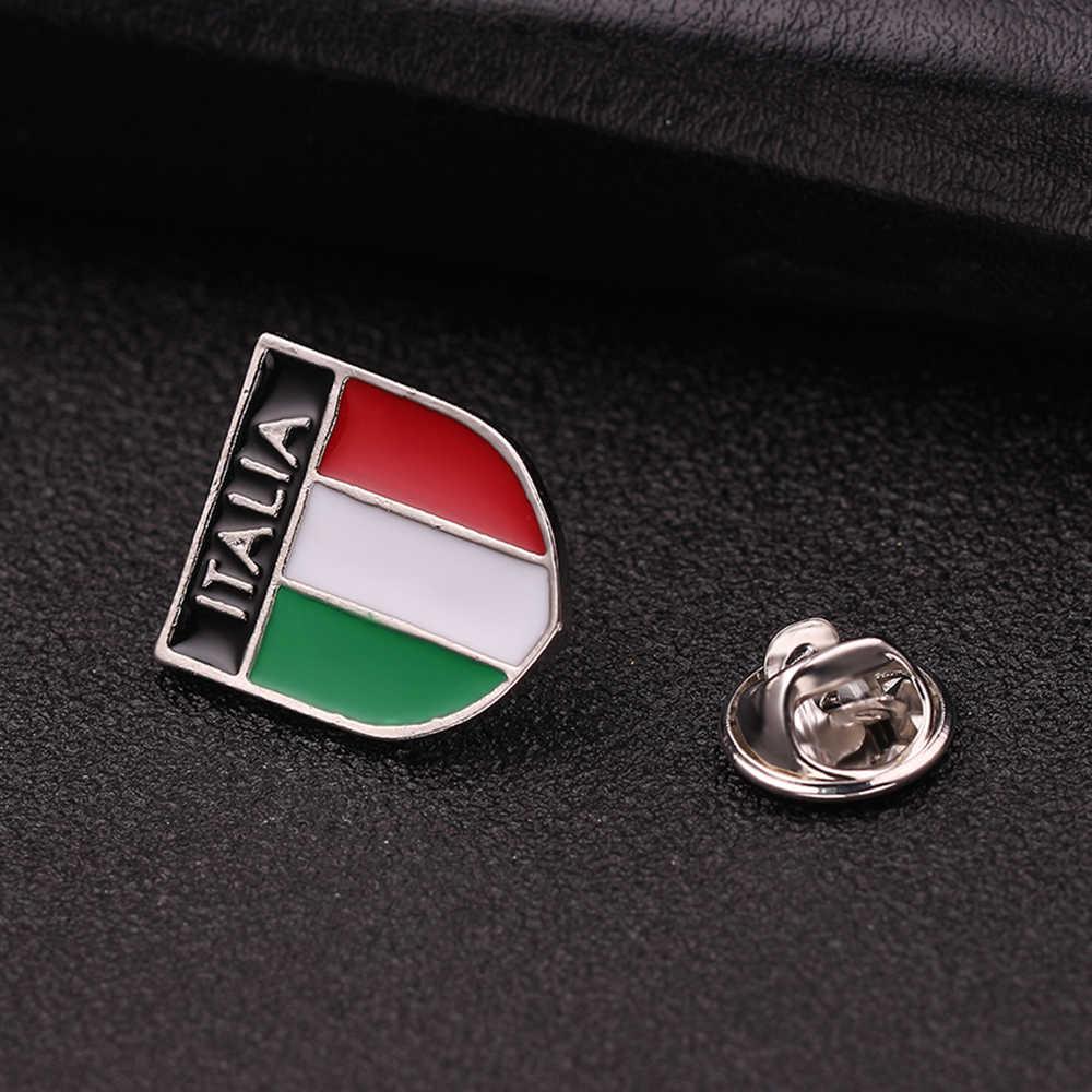 Peta Bros Enamel Pin Jerman Kanada Italia Amerika Bendera Lencana Bintang Garis-garis Bros untuk Wanita Pria Topi Tas Baju Kerah kerah Pin