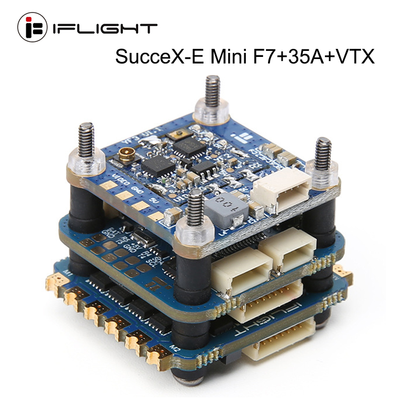 IFlight SucceX-E Mini F7 35A 4-in-1 ESC 2-6S Flight Stack (MPU6000)with SucceX mini Force 5.8GHZ 300mW VTX for FPV Racing Drone