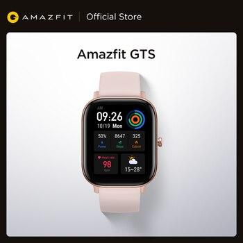 [Склад в России] В наличии Смарт-часы Amazfit GTS 5ATM водонепроницаемые плавательные Смарт-часы 14 дней с возможностью изменения аккумулятора