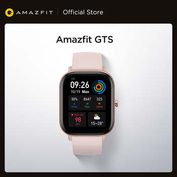 [Ship from Russia] In Stock Amazfit GTS Smart Watch 5ATM Waterproof Swimming Smartwatch 14 Days Battery Editable Widgets