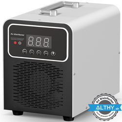ALTHY Ozone Generator Air Purifier Cleaner Disinfector O3 Ozonator Deodorizer - 5,000mg/hr Timer - Portable car home