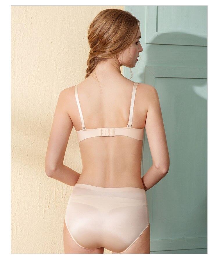 CINOON Sexy Gather Bras For Women Push Up Lingerie Seamless Bra Bralette Wireless Brassiere Female Underwear Intimates (32)