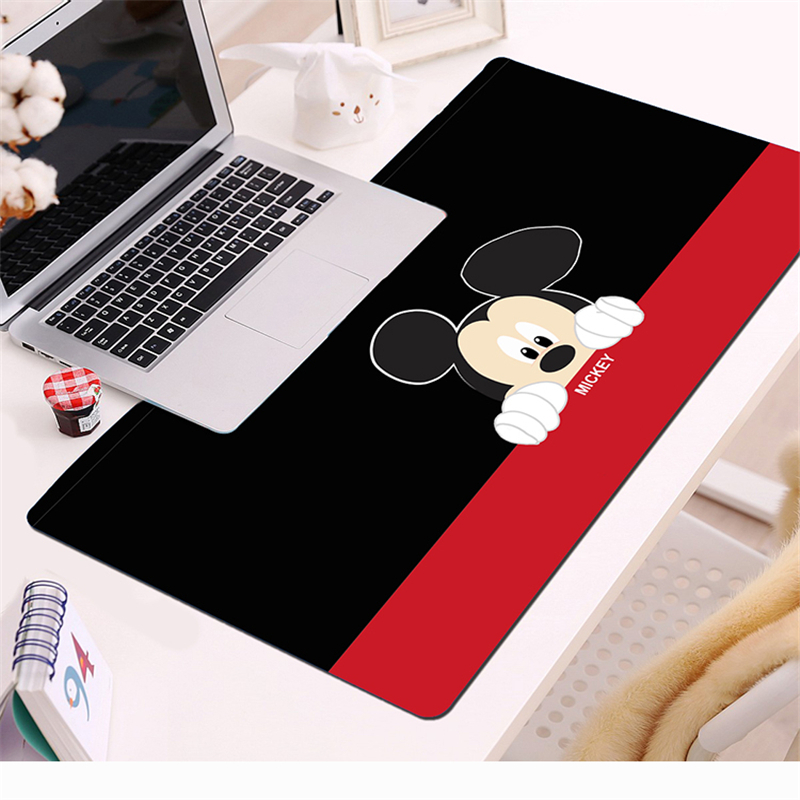 Red Mickey Large Natural Rubber Mouse Pad 70x30cm Waterproof Game Desk Cartoon Minnie Mousepad Keyboard Mat Birthday gift