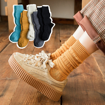 Autumn  winter cotton socks bump personality stereo thick line men and women neutral caterpillar pile fashion warm
