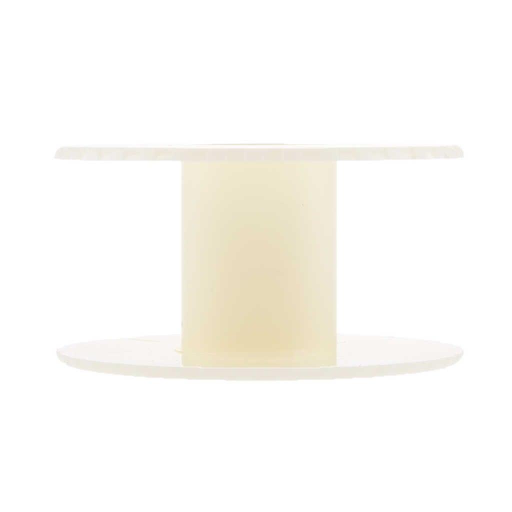 Beyaz plastik makaralar-boş makaralar-el sanatları iplik kordon tel halat zincir rulo