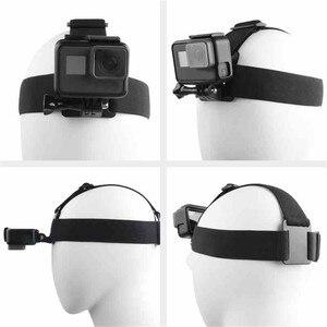 Image 3 - Ceinture de fixation de sangle de tête de harnais réglable élastique pour GoPro HD Hero 1/2/3/4/5/6/7/8 SJCAM caméra daction noire