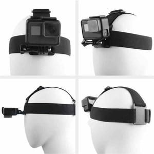 Image 3 - Elastyczna regulacja uprzęży opaska na głowę pas do GoPro HD Hero 1/2/3/4/5/6/7/8 SJCAM Black Action Camera