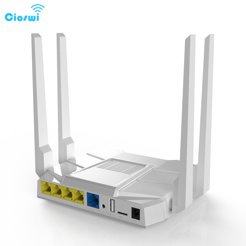 Cioswi High Speed Dual Band Wireless Wifi Router WE1326-BKC 3G 4G LTE Modem SIM Card Slot Travel Business High Gain Antennas image