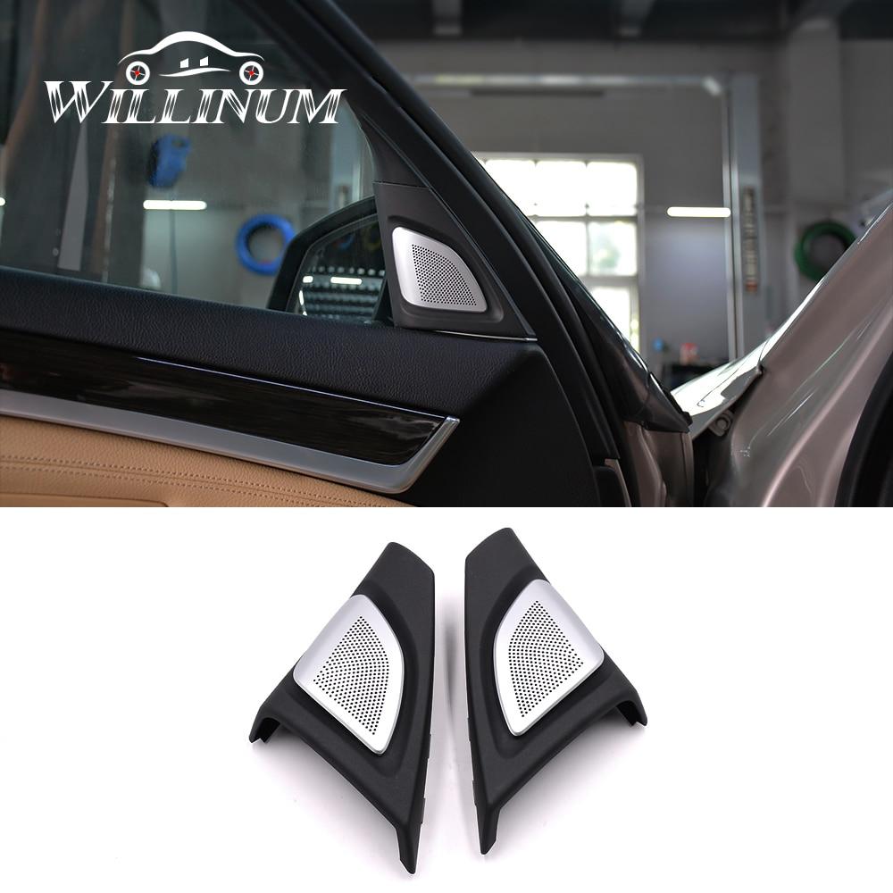 Car speaker cover trim for BMW F10 F11 auto interior front tweeter treble audio twiiter horn trumpet loudspeaker trump replace