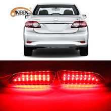 For Toyota Corolla 2011 2012 2013 Led Rear Bumper Reflector Tail Lamp Brake Stop Running Fog Lights High Quality 2pcs
