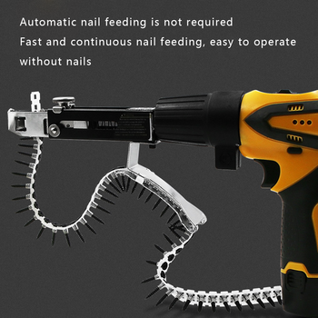 Automatic Screw Chain Nail Gun Adapter for Electric Drill woodworking tools cordless drill accessories new 220v 530w 1pc screw speed control hand held electric drill automatic continuous electric screw gun wood finishing tool