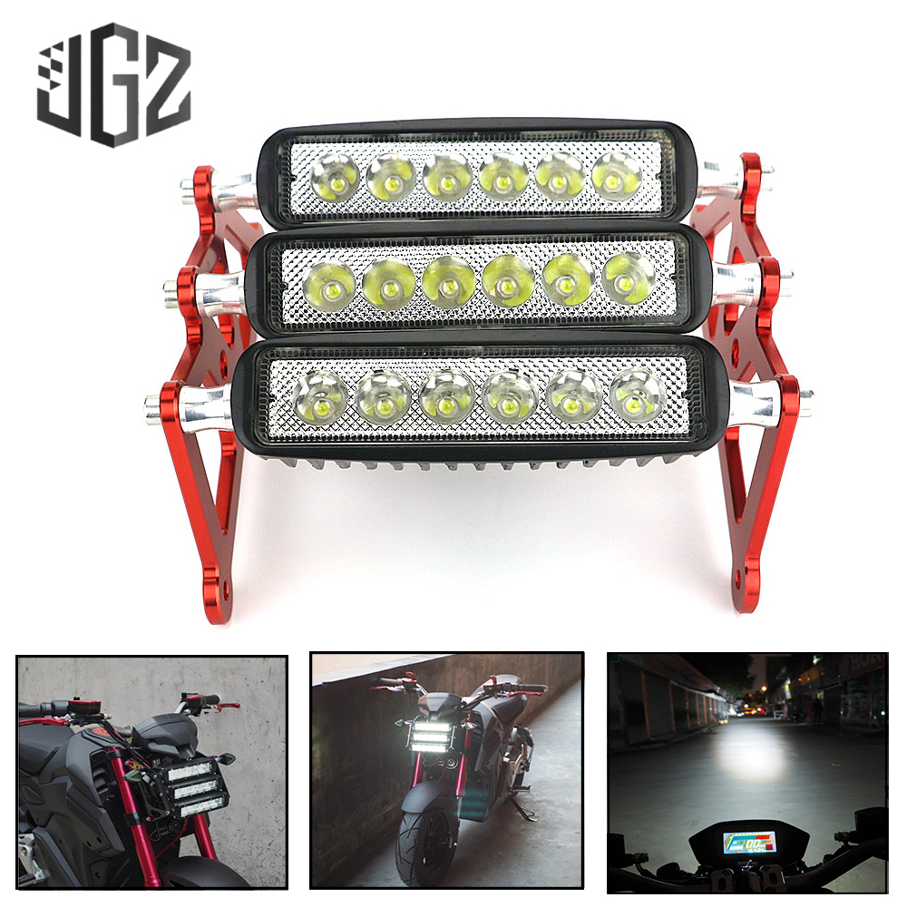 Motorcycle LED Headlight Waterproof Front Fork Light White Fog Headlamp Bracket for Honda Grom MSX125 2013 - 2016 2017 2018 2019
