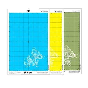 Сменный цветной коврик для резки, 3 шт., материал ПВХ, нескользящий клей для силуэт, камея, плоттер, защитная насадка