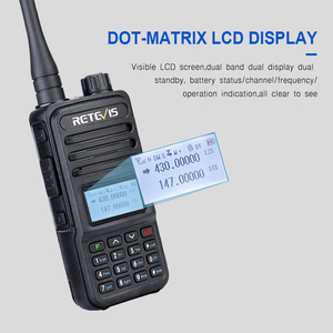 Image 3 - Retevis RT85 Walkie Talkie 5W VHF UHF Dual Band VFO Amateur Two way Ham Radio Station Portable Radio For Hunting Support CHIRP