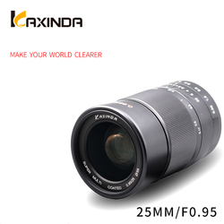 Kaxinda 25mm f/0.95 Standard Manual Prime Lens with Large Aperture for Canon Sony Fujifilm Olympus Panasonic Mirrorless Camera